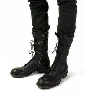 Julius Single Zip Lace Up Combat Boots